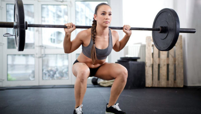 how to barbell back squat in the gym