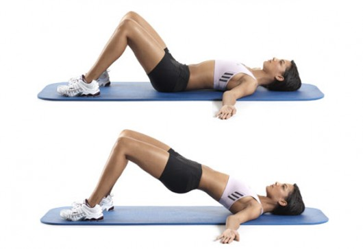 best glute exercises banded bridges