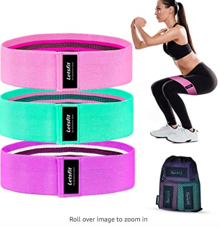 letsfit resistance bands for glutes