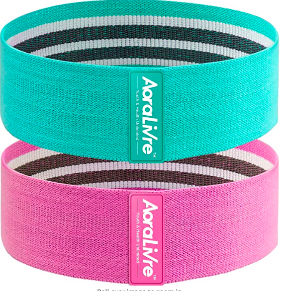 Fabric resistance bands for glutes