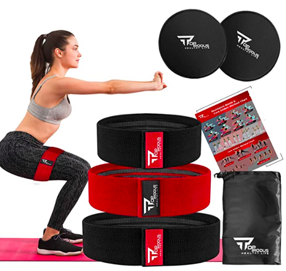 TOPRODUS fabric resistance bands for glutes